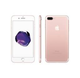 Iphone 7 plus de 32gb ouro rosa lacrado -zero
