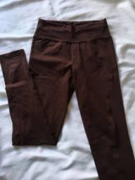 calça legging marrom