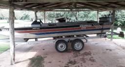 Barco Canoa Lancha Aluminio Completa