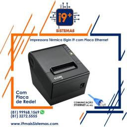 Impressora Térmica de Cupom Elgin i9 com Placa de Rede Ethernet