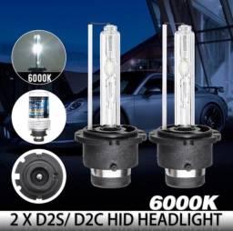 Lâmpadas D2s ou D3s Xênon original de fábrica 6000K Super Branca 35w