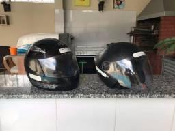 Vendo 2 capacetes R$ 100,00