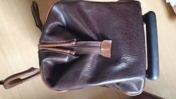 bolsa em couro c rodinha