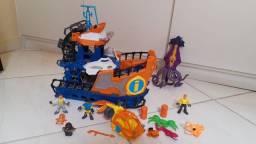 Kit com 2 barcos e 1 submarino Imaginext