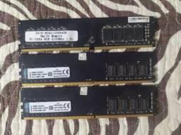 Título do anúncio: Memórias RAM ddr4 4 e 8 gb