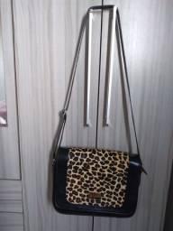 Bolsa Animal print em  couro