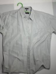 Título do anúncio: Camisa social manga curta micro fibra tamanho G cinza