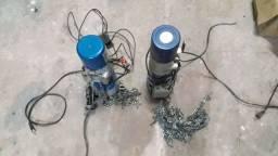 2 motores de porta de aço