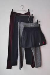 Kit com 3 leggins e 1 short tam. P