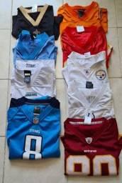 Título do anúncio: Camisetas football americano Nfl originais usadas vários times de marca em João Pessoa-PB.