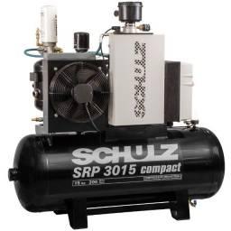 Compressor de Ar de Parafuso SRP 3015 Compact 7,5 Bar 59 Pcm 183 Litros 380V - Schulz