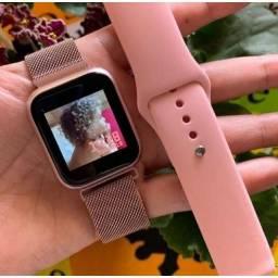 Smartwach - Relógio  inteligente põe foto touchscreen com 2 pulseiras