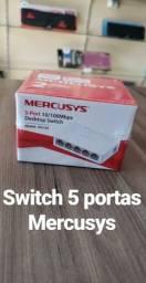 Switch 5 portas, novo, 2 anos de garantia