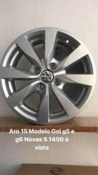 Rodas aro 15 Modelo Gol g5 e G6 Rodas novas