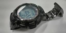 99161f63942 Relógio Casio Pro Trek PRG-80YT Triple Sensor Titânio Preto perfeito