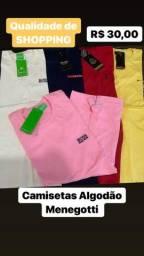 Camisetas em Algodão Menegotti