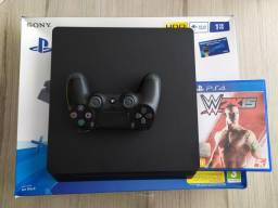 Playstation 4 Slim 1Tb de HD + 1 jogo físico