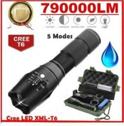 Lanterna tática 79000 lúmens modelo e17 cree XML T6 LED Zoom