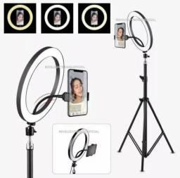 Entrega Grátis!!! Ring Light Foto Make Tripé 2 metros Iluminador Led Com Garantia