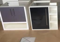 Gabinetes de banheiro em mdf novos