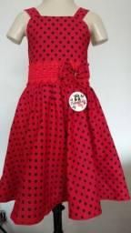 Vestido infantil tecido de algodão