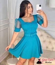 Vestido azul rodado e tubinho lançamento
