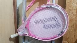 Raquete Profissional de Tênis Infantil Cor Rosa *Nova