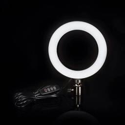 Iluminador RING LIGHT 26cm +  suporte central + Tripé  ??<br>