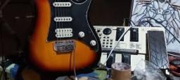Vendo guitarra Ibanez gio + pedaleira boss GT-06