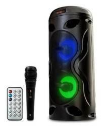 Frete grátis! Caixa de som amplificada bluetooth com microfone