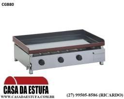 Chapa Lanche Edanca 80x50 a gás