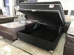 ::: Conjunto Cama Box Bau Colchao Sonata Casal 138x188 Melhor Preço Confira