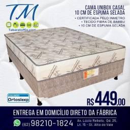 (Entrega Grátis) Unibox Casal 10Cm Espuma Selada!! 6x Sem Juros! Confira