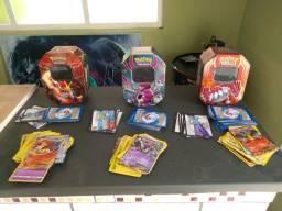 3 lates pokémon com 61 cartas cada lata