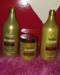 Kits capilar profissionais de 1 Litro. Shampoo+Condicionador+Máscara de hidratação.