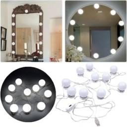 Luz De Espelho Maquiagem Camarim Led 10 Lampadas