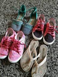 Calçados para meninas 35 reais