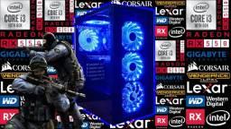 PC Gamer NOVO c/ Intel 10ª Geração + RX 550/4GB!