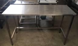 Mesa de Inox Industrial 1.40x50 R$650