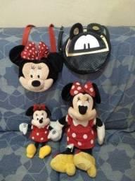Lote pelúcias e bolsas Minnie Disney original