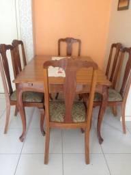 Jogo Completo Mesa e Cadeiras Luiz XV