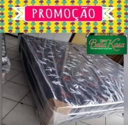 Cama Box Casal+Colchão Novo Conjugado Entrega mais rápida do vale