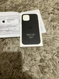 Capa de silicone com MagSafe para iPhone 12 | iPhone 12 Pro ? Preto