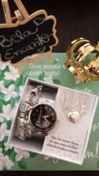 Kit Relógio Feminino Analógico