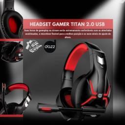 Headset Gamer Titan - 2.0 Usb - Dazz | Lacrado com 2 anos de garantia