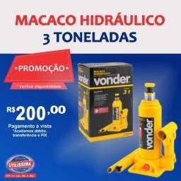 Macaco Hidráulico tipo Garrafa 3 Toneladas