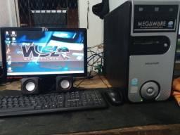 Computador completo, 4gb, hd 500gb, pronto pro uso, aceito cartão