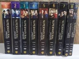 Série Supernatural com as temporadas 1 até a 9 completas.