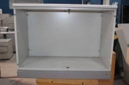 Armário de Escritório / Sem Porta / em MDP Branco 72 cm x 92 cm x 44 cm