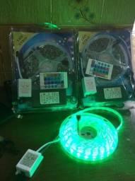 Mangueira LED  5 Metros  Multicolorida C/ Fonte e Controle